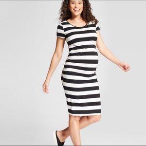 Cute striped maternity dress